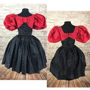 Vintage 50s polka dot rockabilly style dress